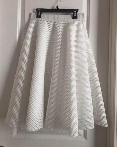 Malishow White Midi Skirt