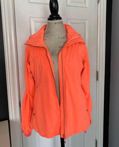 Lululemon Vibrant Orange/pink Rain Jacket