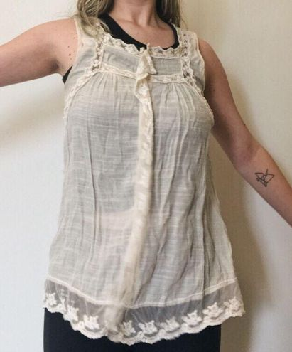 ADIVA USA Adiva Delicate White Boho Lace Top