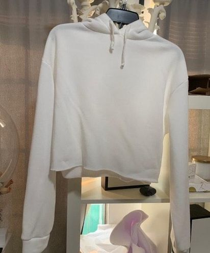 Topshop White top shop cropped hoodie