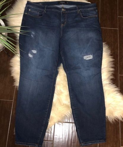 Torrid distressed skinny jeans 26