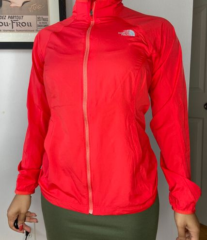 The North Face light weight jacket neon color size medium