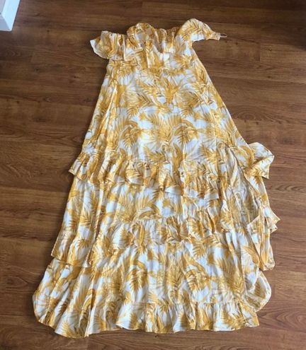 Twenty ten Yellow summer dress strapless