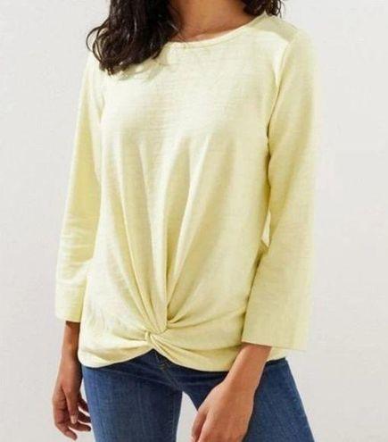 Loft Yellow Twist Front Sweatshirt SP
