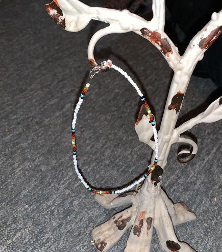 Handmade White Seed Bead Necklace Choker