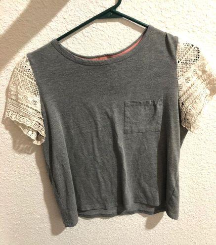 Grey Crochet T-shirt