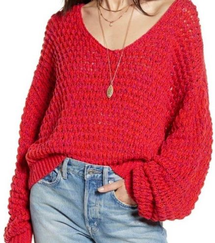 Free People Coconut V Neck Knit Sweater