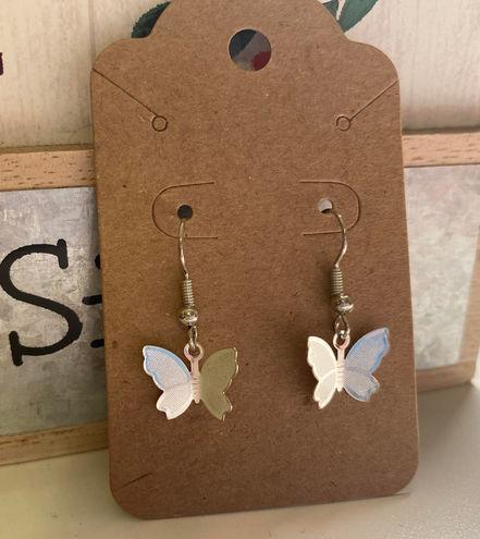 Dainty Sliver Butterfly earrings