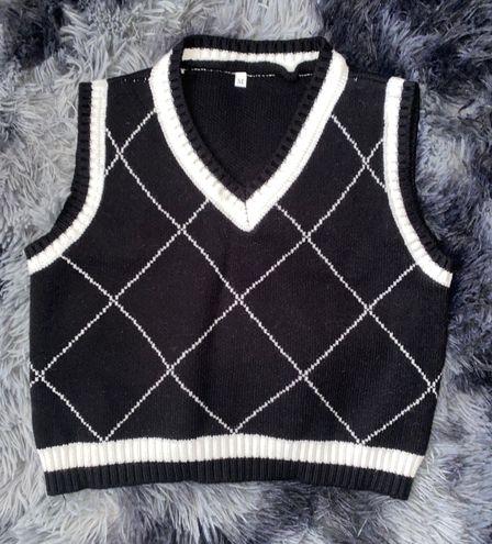 Crop Sweater Vest