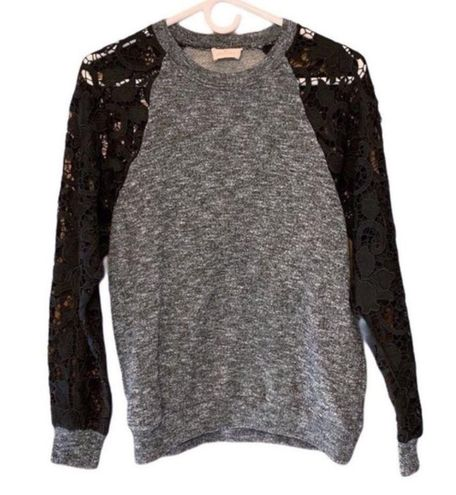 Urban Outfitters Pins & Needles Lace Sleeve Pullover Sweater Size XS