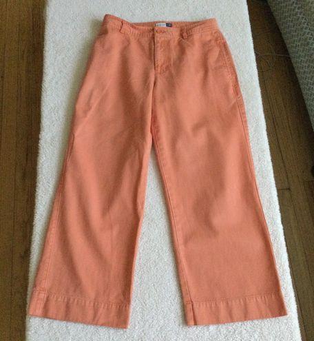 Gap Vintage Retro Cut Capris Orange - Sz 4