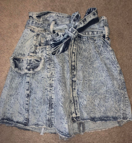 SheIn Distressed Denim Skirt