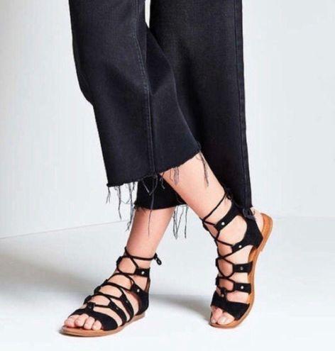 Dolce Vita Black Lace Up Sandals