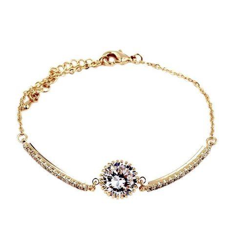 Fashion gold crystal bracelet