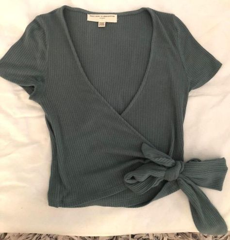 Urban Outfitters Cropped Wrap Top