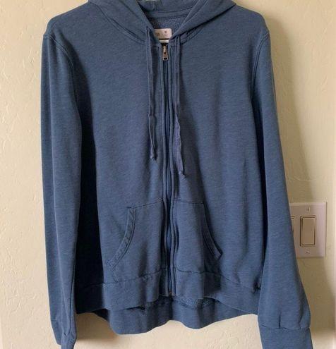 Blue zip up jacket