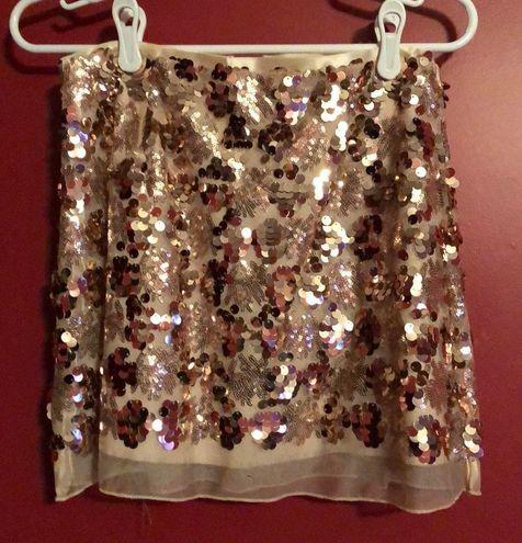 Rose gold Sequins Skirt