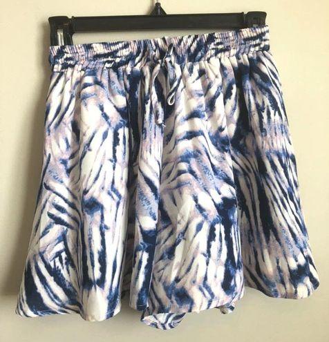 Olivaceous Purple And Blue Tie dye Skort
