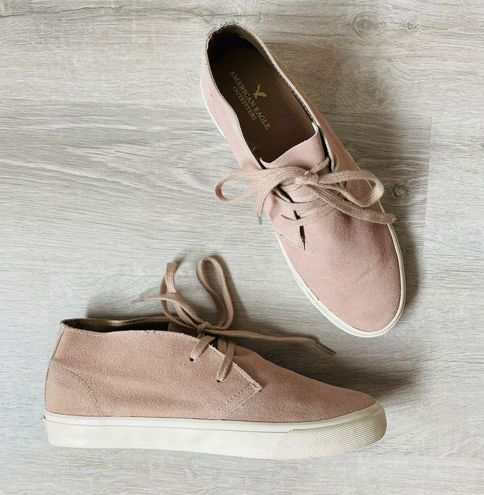 American Eagle Outfitters Suede Sneakers Blush Sz 9