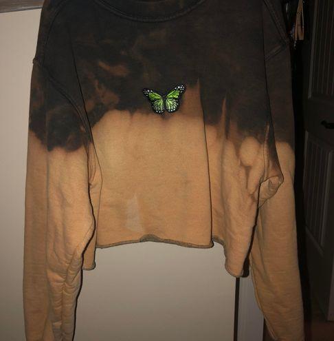 Russell Tie Dye Crop Sweatshirt