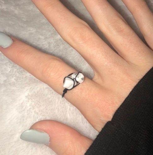 Boutique Dalmatian Jasper Wire Ring