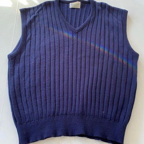 Navy Blue Vintage Sweater Vest