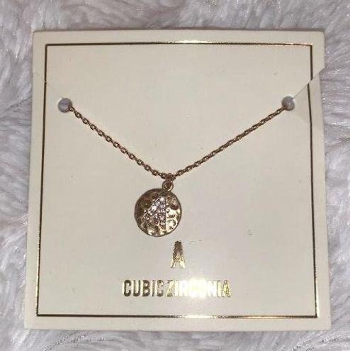 """Boutique gold """"A"""" necklace"""