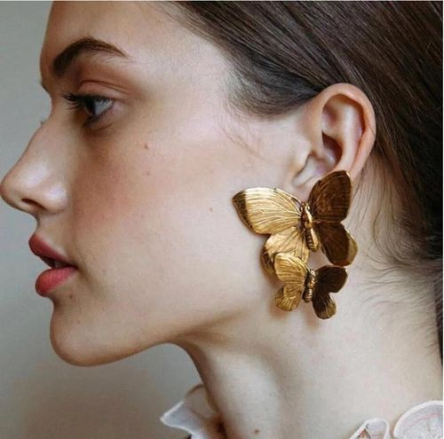 & Other Stories Gold Butterfly Earrings