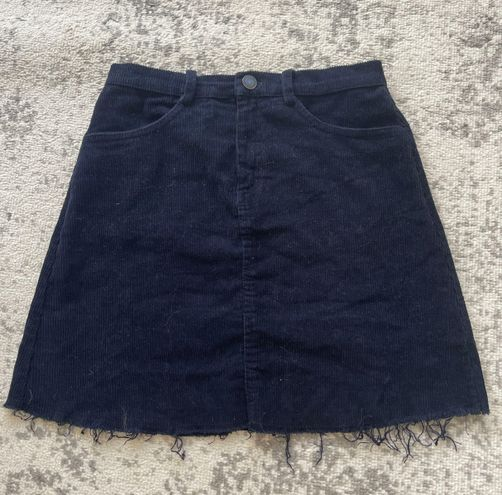 Brandy Melville Navy Corduroy Skirt
