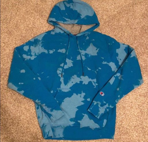 Champion blue bleached hoodie