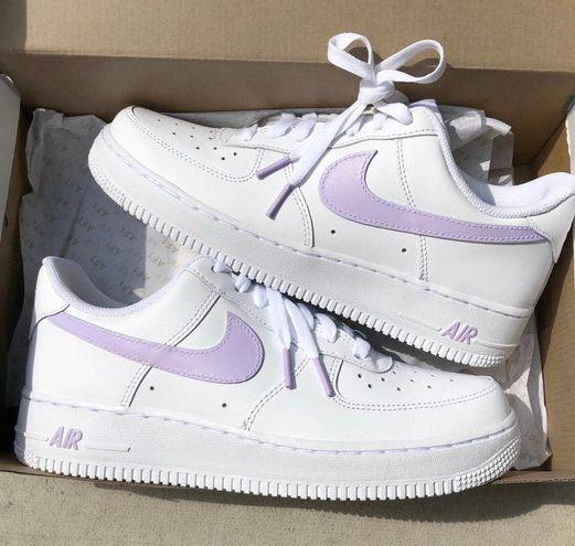 Nike Lavender Air Force 1s