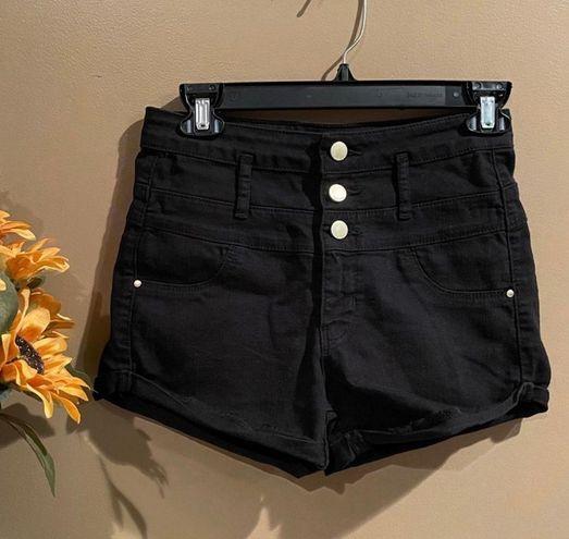 Refuge Black High Waisted Shorts