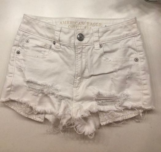 American Eagle Outfitters White Denim Shorts