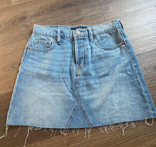 Aeropostale High Rise Jean Skirt