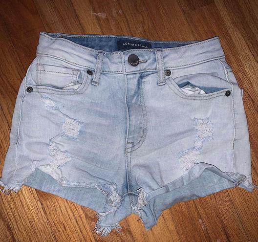 Aeropostale light wash jean shorts
