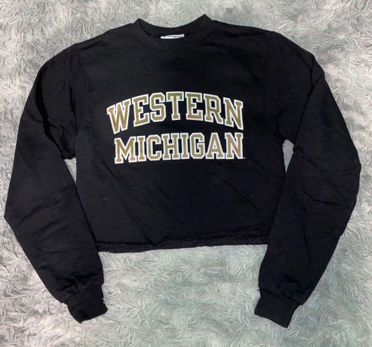 Champion Western Michigan Cropped Crewneck