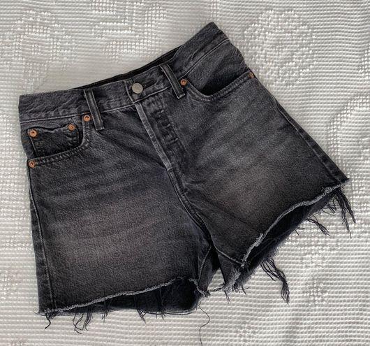 Levi's 501 Black Wedgie High Waisted Short
