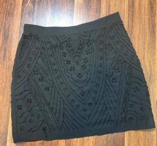Forever 21 New Beaded mini Black Skirt