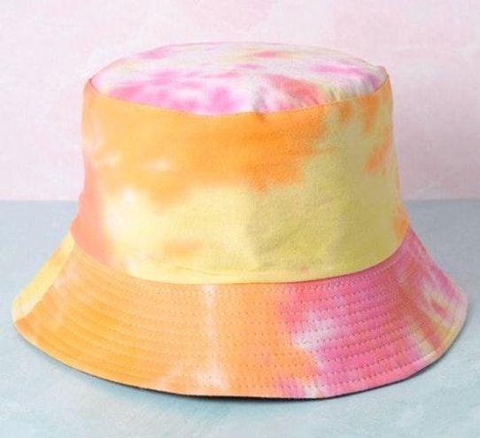 NWT trendy tie-dye pink bucket hat