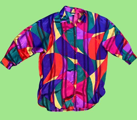 Vintage Multicolor Abstract Top
