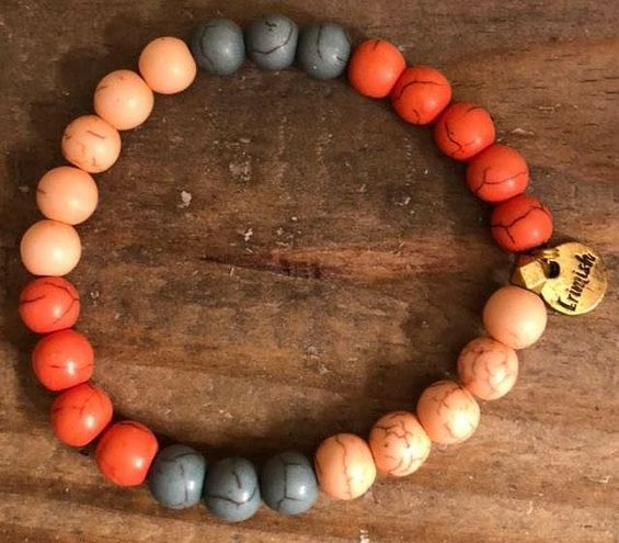 Erimish Red/Pink/Blue Beaded Bracelet
