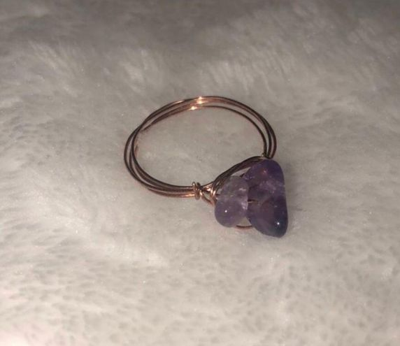 Boutique Handmade Amethyst Wire Ring