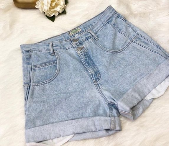 Guess Vintage  By Marciano Cuffed Denim Shorts