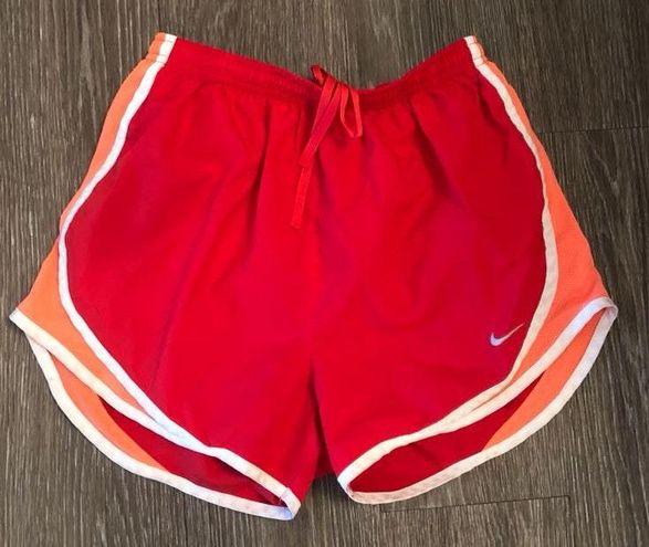 Nike Red And Orange  Shorts