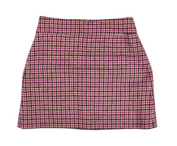 J.Crew Houndstooth / Plaid Wool Mini Skirt