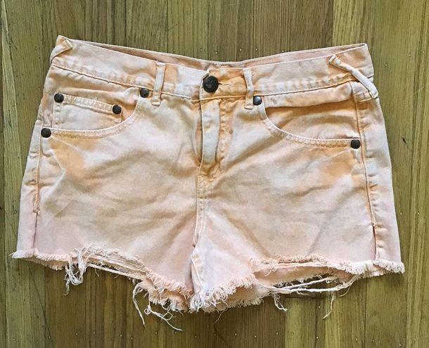 Free People Orange Shorts 28