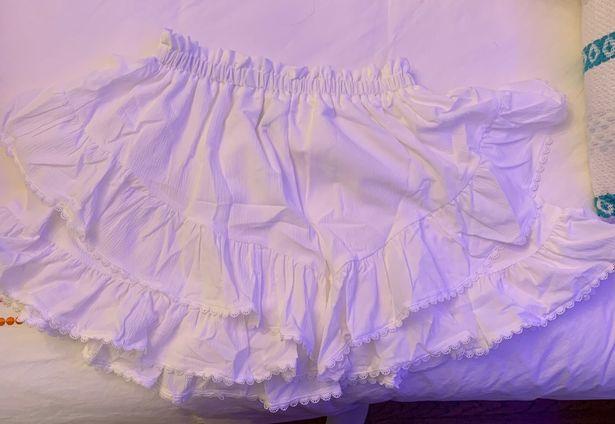 SheIn lace trim ruffle skirt