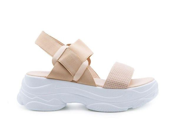 Nude Chunky Soled Sandal