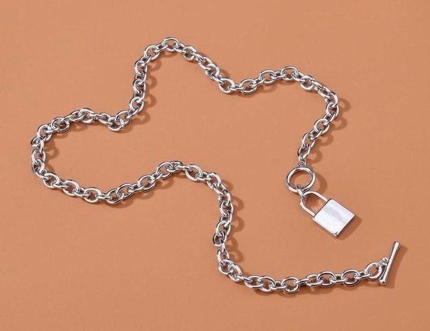 SheIn SilverLock Necklace