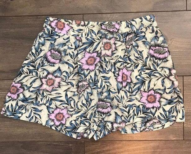 H&M Floral Linen Shorts